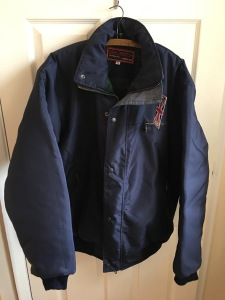 c9f4dc3c0722 High Mount Outdoor Clothing made in England lined short men's jacket.  Photograph by author 1 October 2017. Purchased new from Bedford outdoor  Market 30 ...