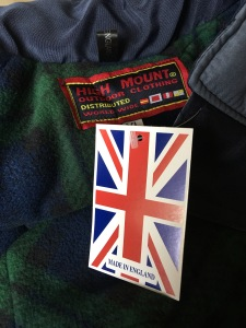 f3636e59b2fa High Mount Outdoor Clothing made in England lined short men s jacket.  Photograph by author 1 October 2017. Purchased new from Bedford outdoor  Market 30 ...