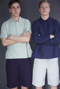 Old Town ceullar cotton polo shirts. Photograph from the Tweed Pig.