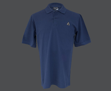 Coeur de Lion polo shirt in blue. British made.