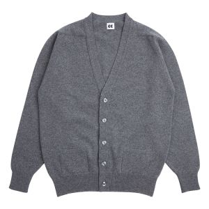 Community Clothing Men's Grey Cardigan. Made in Scotland.