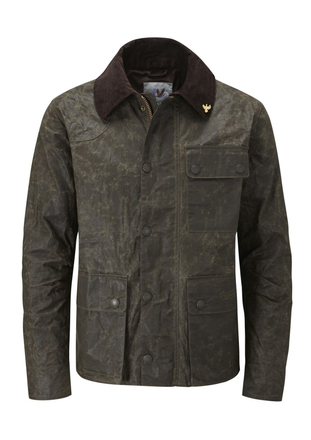 John Partridge Speed 8 Traveller jackets in rustic olive. Made in England.