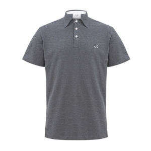 Spencer Paul Men's Carbon Grey Heritage Polo Shirt. Made in the UK.