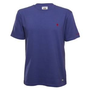 Quantock t-shirt in tempest blue. Made in England.