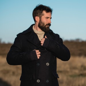 The Shackleton Classic Maritime Pea Coat. Made in England from 100% pure new British wool double face cloth.