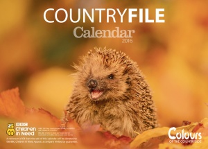 BBC Countryfile 2016 Calendar, front cover view. Made in the UK.