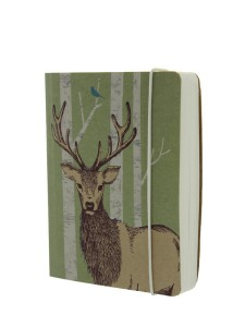 Go Stationery Woodland Trust A6 Stag chunky notebook. British made.