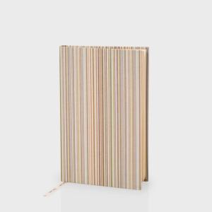 Paul Smith Signature Stripe Hardback Linen Pocket Notebook. Made in England.