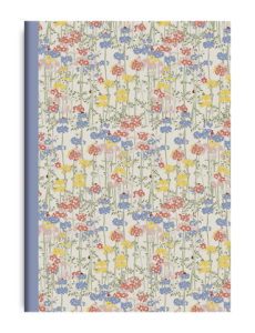 Emma Burningham A6 Primulas Notebook. Printed in the UK.