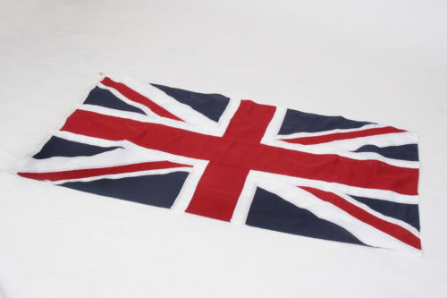 Traditional sewn Union flag (5x3ft) by Red Dragon Flagmakers