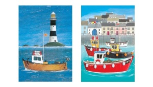 J.Salmon Seaside Notecards (8 pack, 4 1/4ʺ x 5 7/8ʺ, includes envelopes). Designed and printed in the UK.