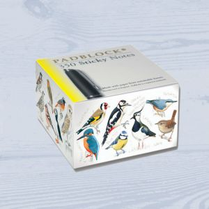 Padblocks British Birds Sticky Notepad (ST30W). Manufactured in England.